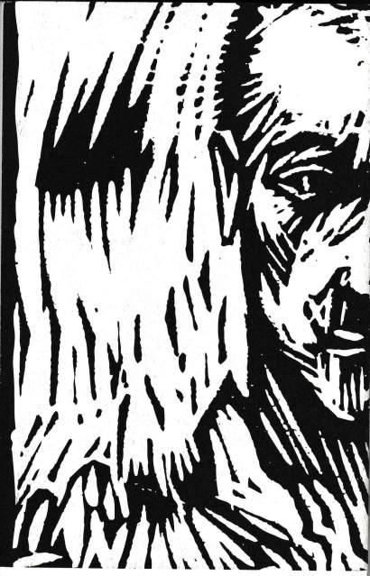 """Ilustración de portada de Jorge Alfonso: """"Hombre en llamas"""""""