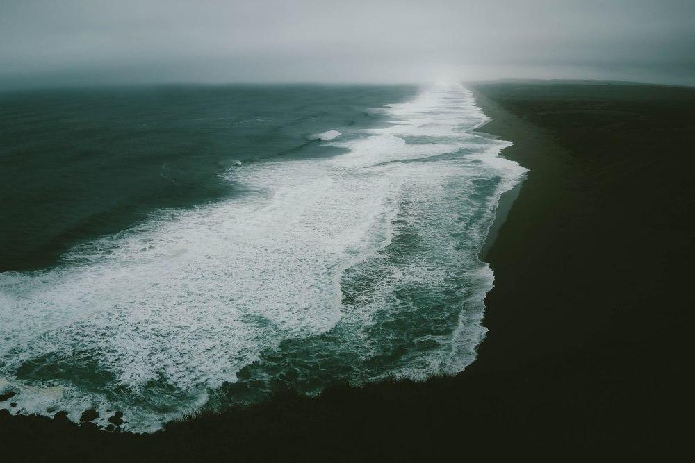 línea de océano