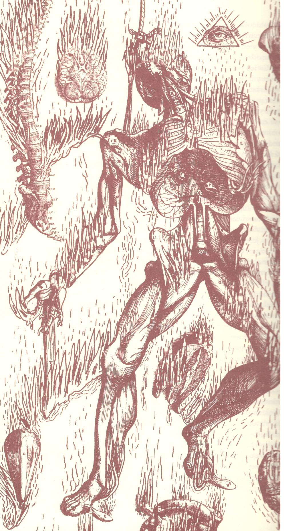 Ilustración de Santiago Robles Bonfil. El Infierno y sus tormentos, Malpaís Ediciones, 2014.